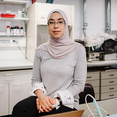 Mariam Elsotohy im Labor